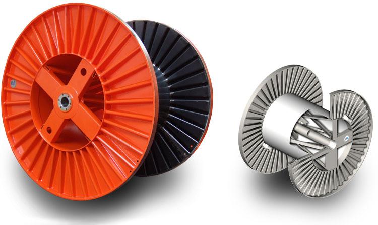 Fabricated steel reels